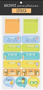 Adesivo para Planner Cítricos - Cartões Gigantes