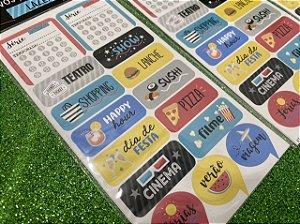 Adesivo para Planner Lazer - Cartões Gigantes