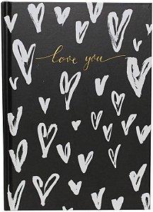 Caderneta A5 - Bee Unique - Corações