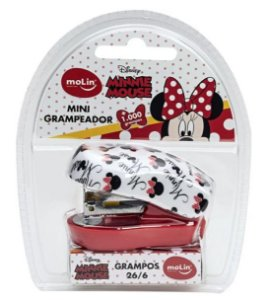 Mini Grampeador MInnie + 1000 grampos - Molin