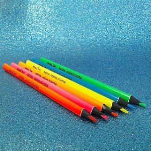 Lápis de Cor Jumbo Neon - Molin