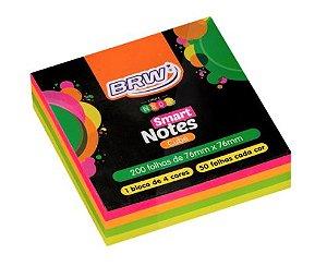 Bloco Adesivo Colorido Smart Notes Neon - BRW