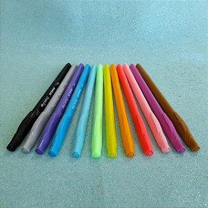 Canetas Brush Pastel Duo - Estojo com 12 cores - Molin