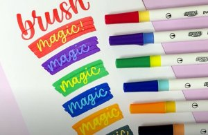 Marcador Dual Magic Brush Pen BRW - Estojo com 6 cores