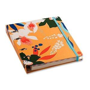 Caderno Criativo Argolado Pólen Pautado 17X24 - Amarelo - Cícero