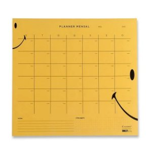 Planner Bloco Mensal Smiley - 29,7 x 27 - Cícero