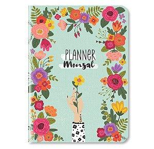 Planner Mensal Flores - Cartões Gigantes