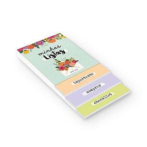 Bloco Listas Flores Cartões Gigantes