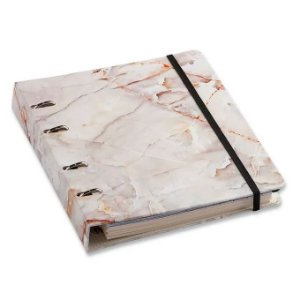 Caderno Criativo Argolado - Mármore - Pautado - 17x24 - Cícero