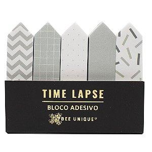 Marcador de Página Bee Unique - Coleção Time Lapse - Cinza e Branco