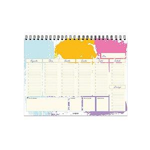 Ever Planner de Mesa Semanal A4 Livre Para Criar Evertop