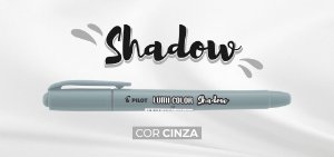 Marca Texto Lumi Color Cinza Shadow Pilot