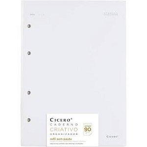 Refil Caderno Criativo Argolado 40FLS Offset 80g 17x24 - Sem Pauta
