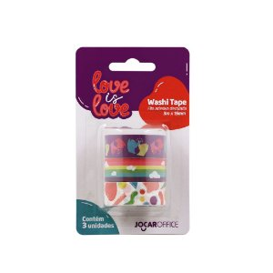 Washi Tape Jocar Office Love is Love Abstrato