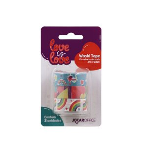 Washi Tape Jocar Office Love is Love Arco-íris