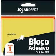 Bloco Adesivo Jocar Office Amarelo 100 folhas