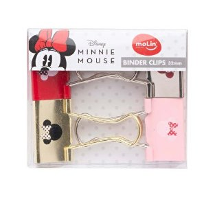Binder Clips 32mm - Molin - Minnie Mouse 4 unidades
