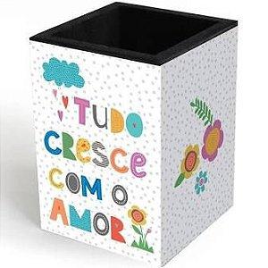Porta Lápis - Fina Ideia - Frases Coloridas