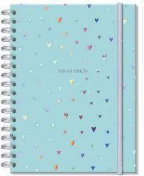 Caderno Colegial - Fina Ideia - Corações Holográficos 96 Folhas