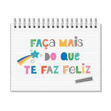 Caderno Lettering Folhas Pretas - Fina Ideia - Frases Coloridas