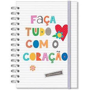 Caderno Pontilhado - Fina Ideia - Frases Coloridas