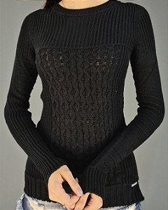 Blusa Tricot Comprimento Alongado Feminina Coerenza