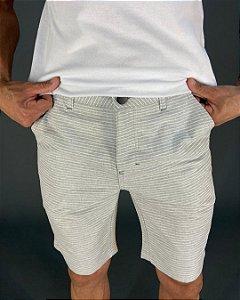 Bermuda com Listras Bolso Faca Masculina Lucage