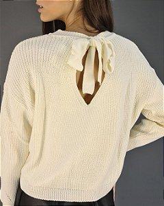 Blusa Tricot com Laço Feminina Ana Gonçalves