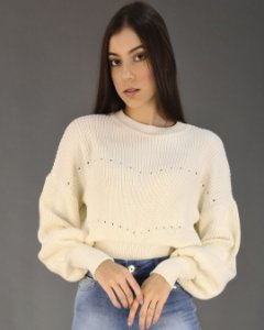 Blusa Tricot com Punhos Feminina Ana Gonçalves