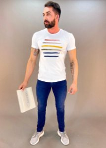 Camiseta Aquarela Masculina Calvin Klein