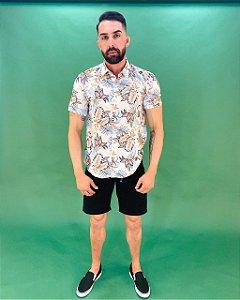 Camisa Manga Curta Floral Masculina