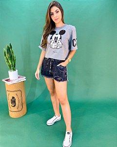 T-shirt Colcci Mickey Paetê Feminina