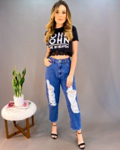 Calça Jeans Boy DestroyedFeminina