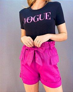 Shorts com Cinto Feminino