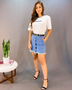 Saia Jeans Feminina