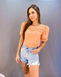 Shorts Jeans Desfiado Feminino