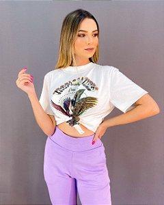T-shirt Ampla Arara Feminina