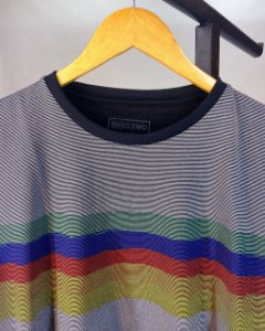 Camiseta Oceano Listrada Masculina