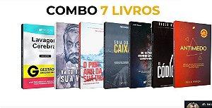 Combo com 7 livros.
