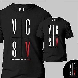 """Camiseta VCSV - """" Vá Cuidar Da Sua Vida"""""""