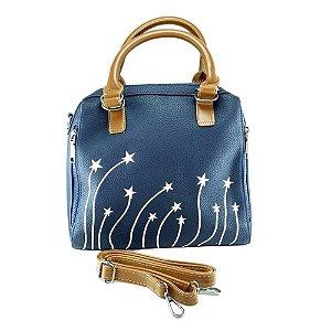 Bolsa Feminina Tira Colo Estrelas na Cor Azul CQ574