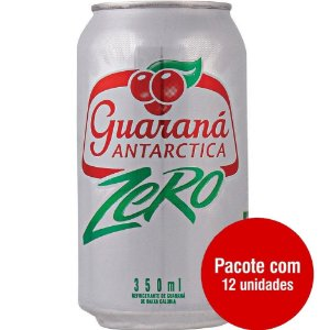 Guaraná Antártica Zero LATA 350ML CX12