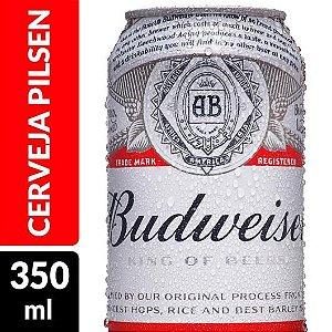 Cerveja BUDWEISER lata 350ml- Cx com 12