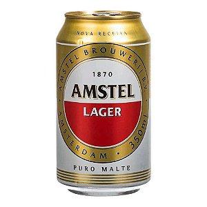 Cerveja Amstel Lager LATA 350ML CX12