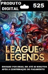 525 RPs para League of Legends (LOL)