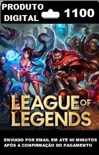 1100 RPs para League of Legends (LOL)