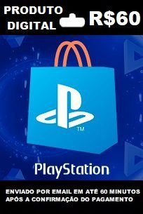 R$60 de saldo para Playstation Store BR