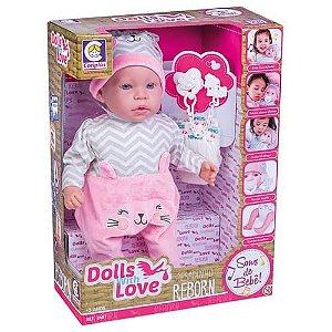 Boneca Dolls With Love Reborn - Cotiplás