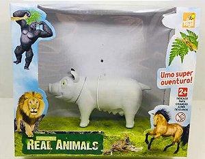 Miniatura Animais Da Fazenda Porco Branco - Bee Toys