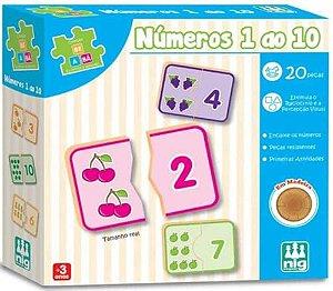 Jogo Números 1 A 10 - Nig Brinquedos